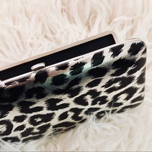 Holographic Metallic Shiny Cheetah Clutch Wallet